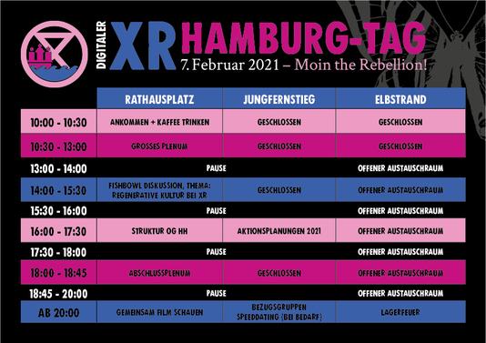 XR Hamburg Tag Programm