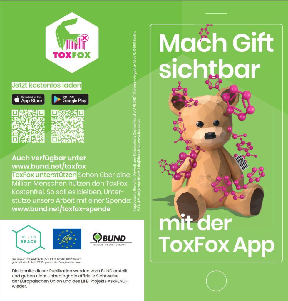 ToxFox Broschüre App BUND